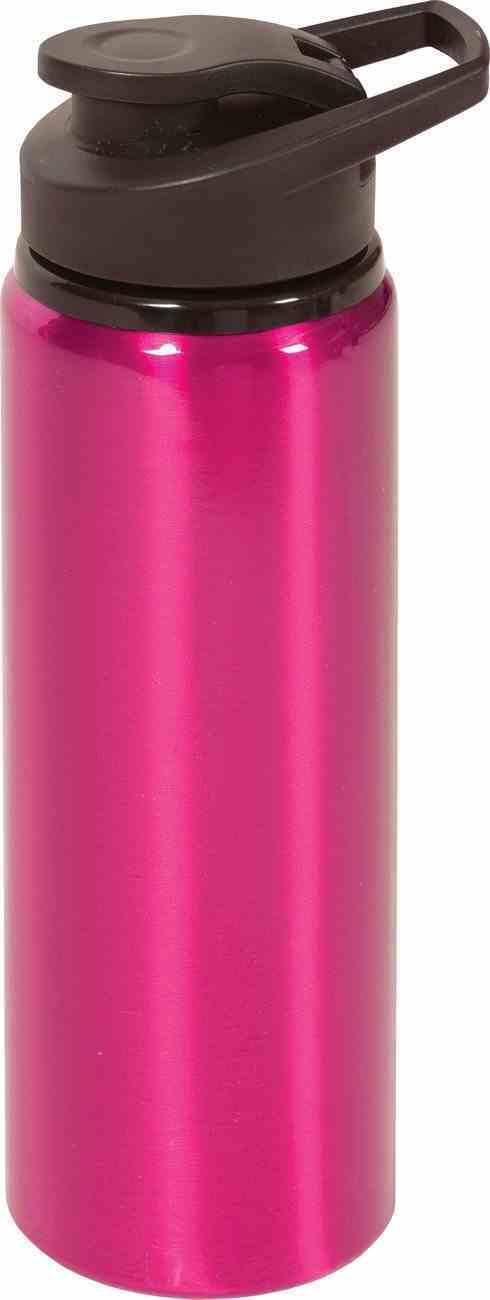 Water Bottle Stainless Steel: Pink With Black Lid, 769 ML Homeware