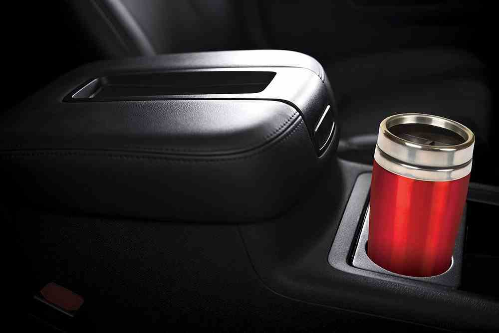 Travel Mug Stainless Steel: Red With Silver Lid, 473 ML Homeware