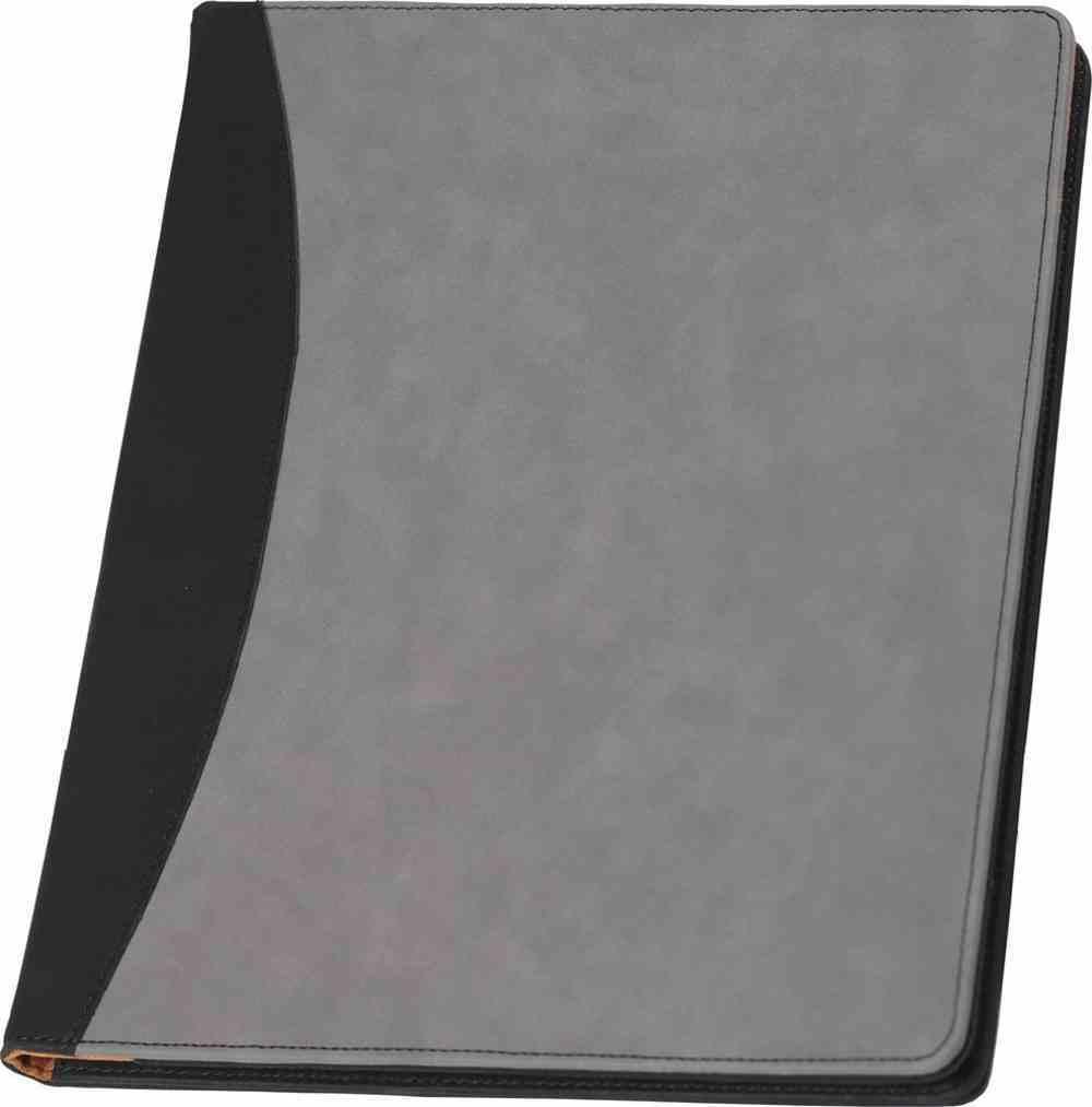 Padfolio: Black and Grey Imitation Leather