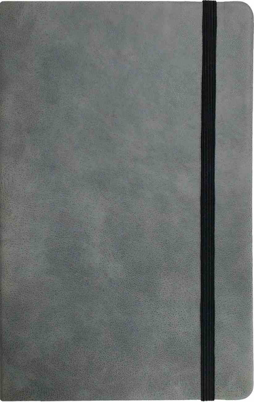 Journal: Grey With Elastic Band, A5 Size Imitation Leather