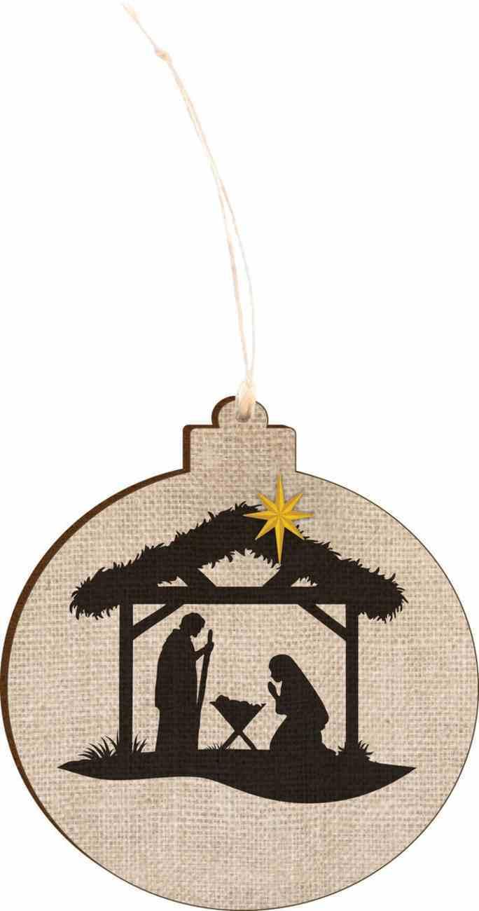 Christmas Mdf Ornament: Nativity, Round Shape Homeware