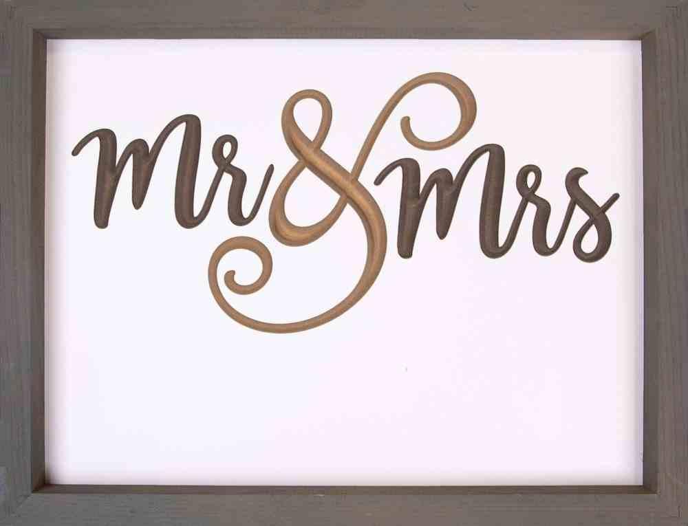 Carved Framed Sign: Mr & Mrs Homeware