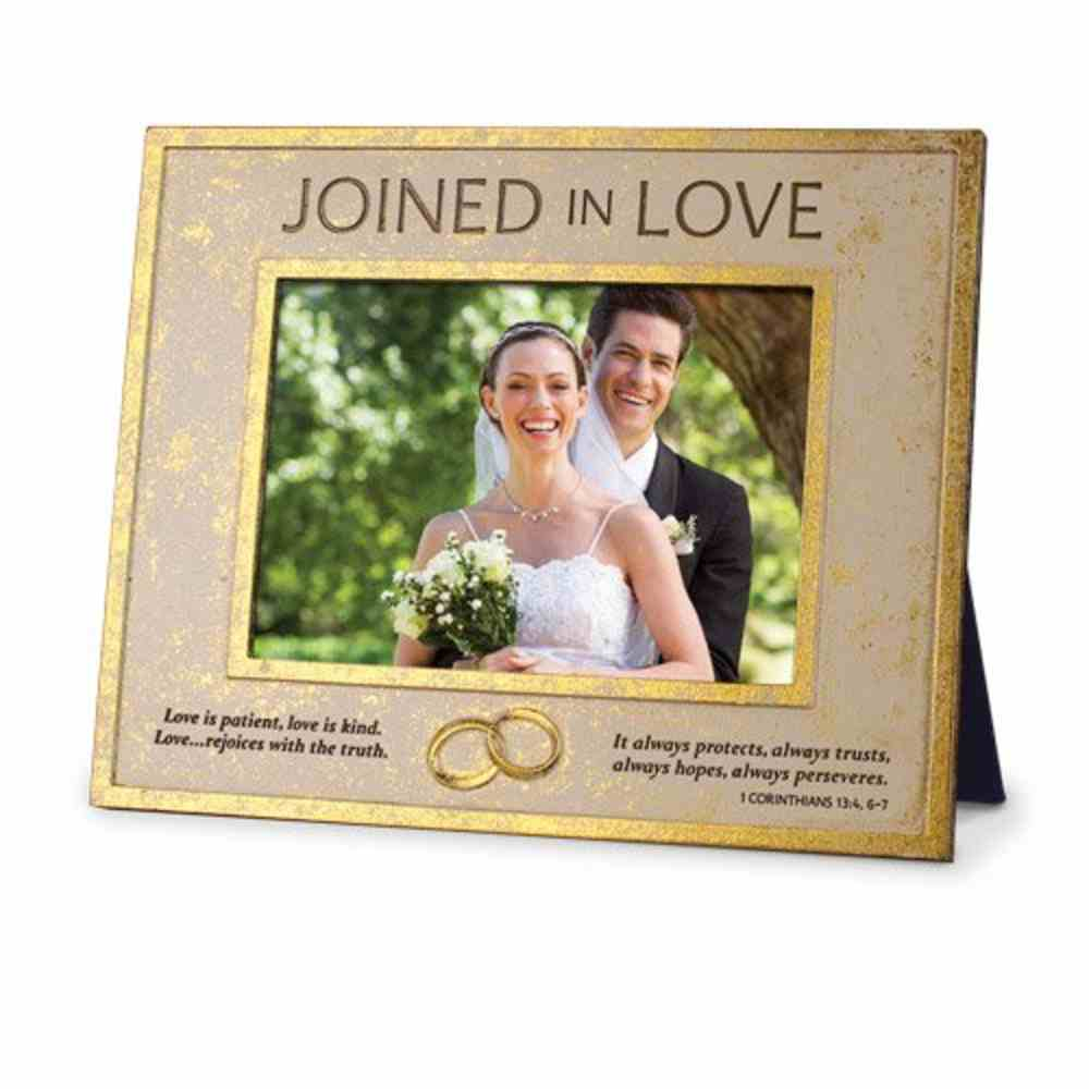 Frame Cast Stone: Joined in Love (1 Cor 13:4, 6:7) Homeware
