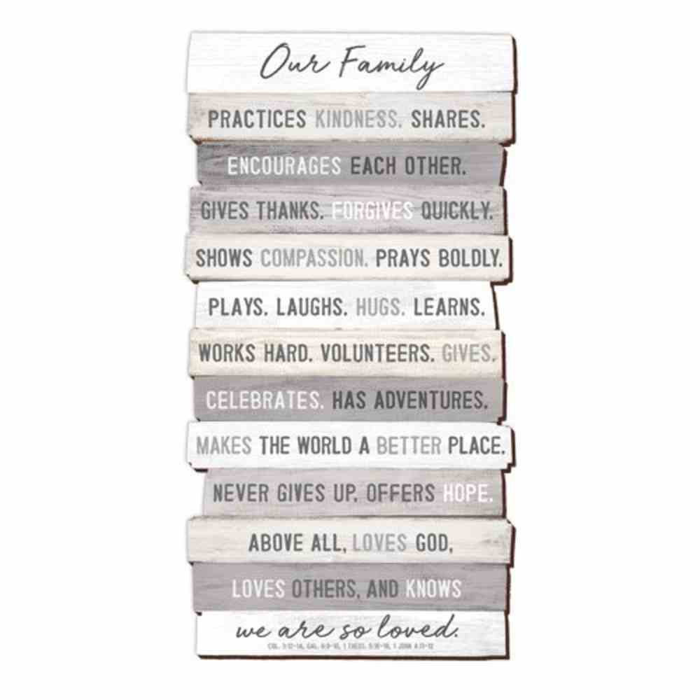 Stacked Wood Plaque: Our Family, Mdf, Wall-Hanger Included Plaque