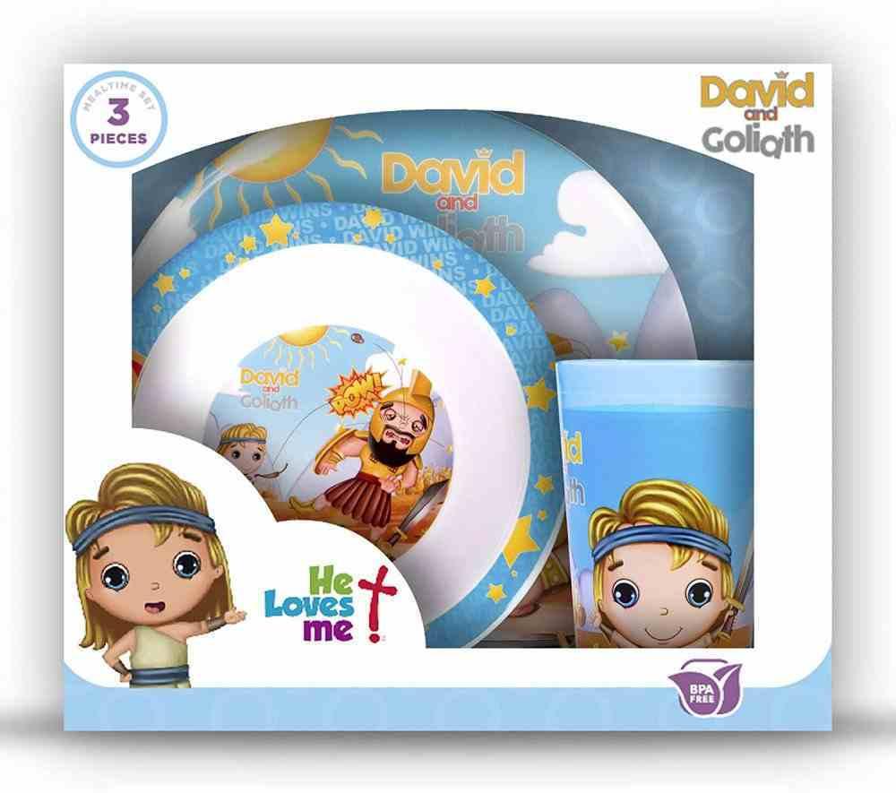 David & Goliath Bpa Free, Top Rack Dishwasher Safe, Do Not Microwave (3 Piece Set) (He Loves Me Dinnerware Series) Homeware