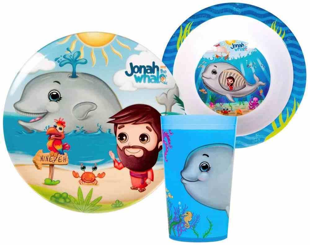Jonah & the Whale Bpa Free, Top Rack Dishwasher Safe, Do Not Microwave (3 Piece Set) (He Loves Me Dinnerware Series) Homeware