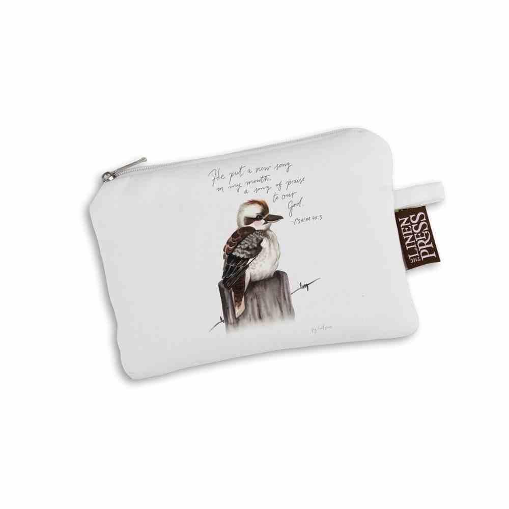 Purse Organic White Kit Kookaburra (Aco Certified Organic Cotton) (A New Song Ps 40: 3) (Australiana Products Series) Homeware