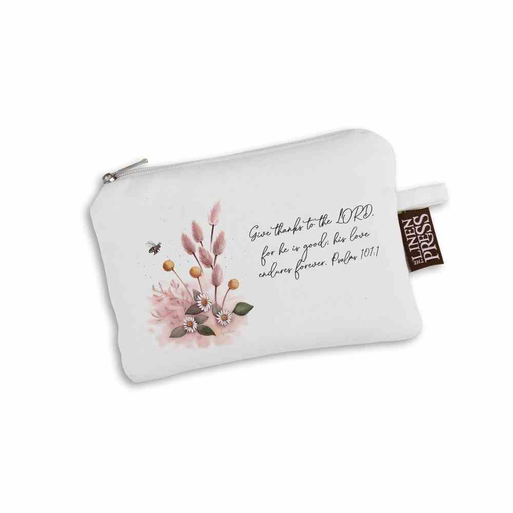Purse Organic Tlp White (Aco Certified Organic Cotton) (Give Thanks to the Lord Ps 107: 1) (Australiana Products Series) Homeware