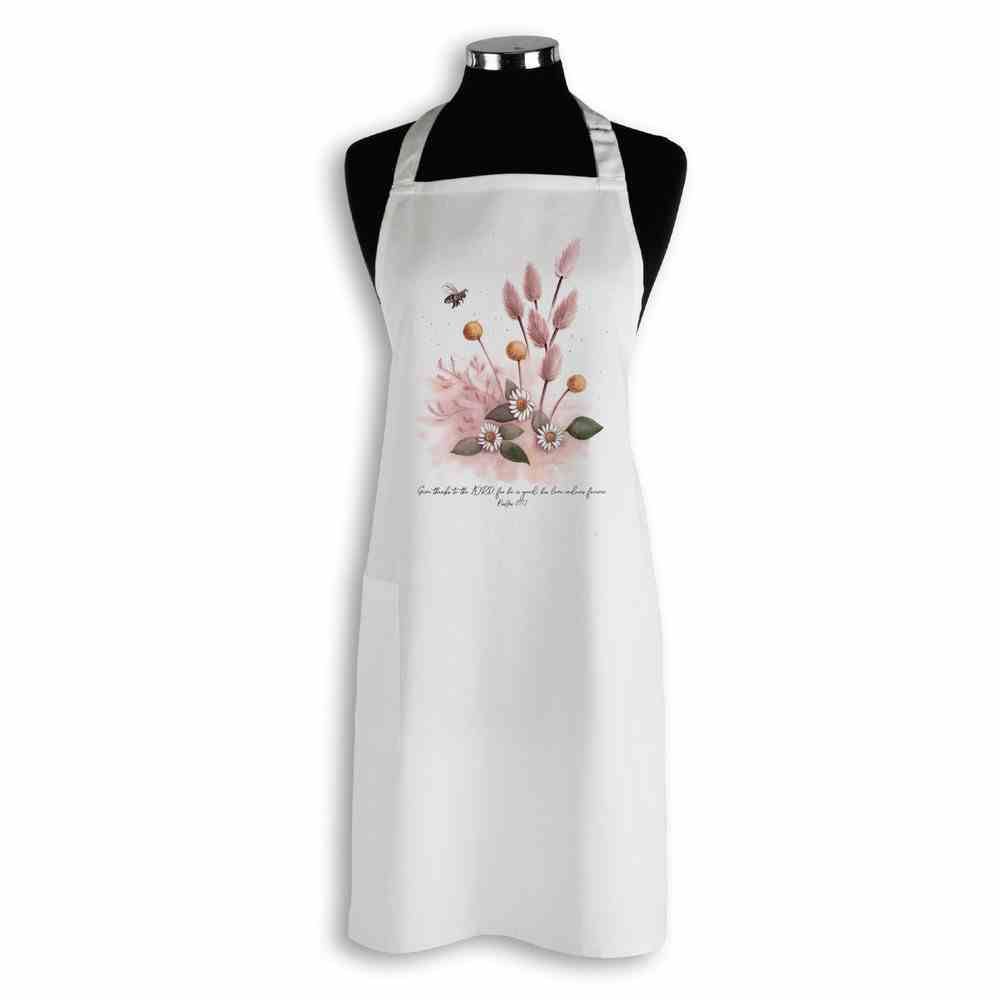 Apron Organic White (Aco Certified Organic Cotton) (Give Thanks to the Lord Ps 107: 1) (Australiana Products Series) Homeware