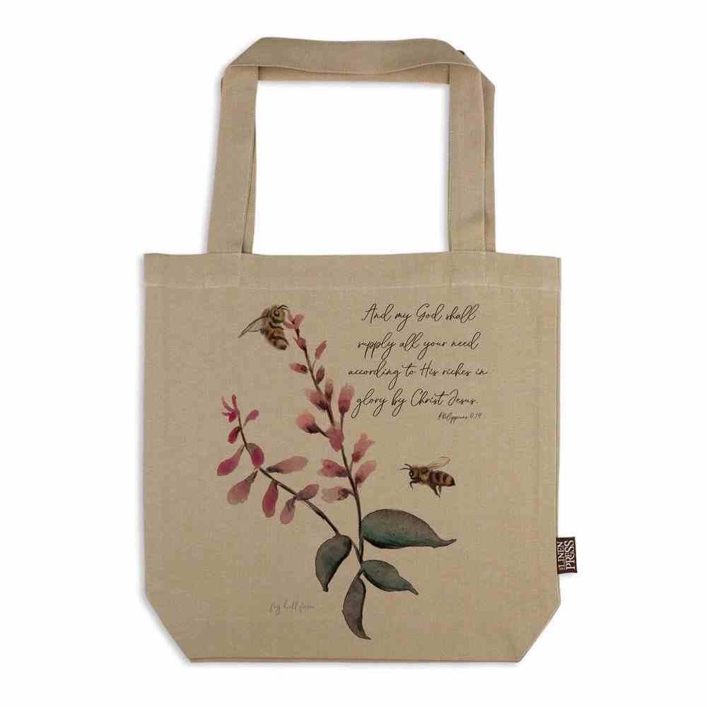Tote Bag Organic Beige (Aco Certified Organic Cotton) (God Shall Supply- Phil 4: 19) (Australiana Products Series) Homeware