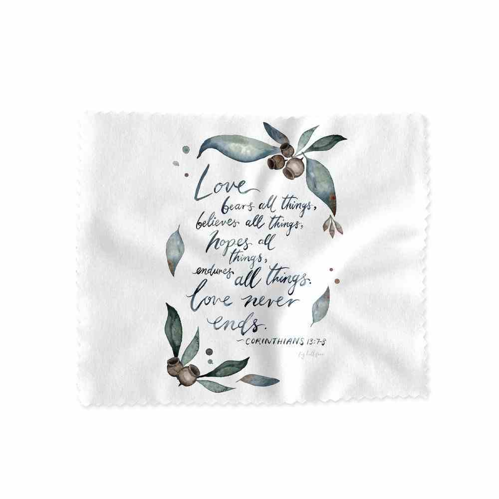 Lens Cloth (Love Never Ends- Cor 13: 7-8) (Australiana Products Series) Homeware