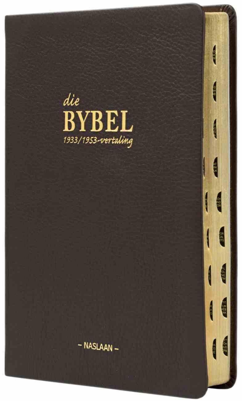 Afrikaans Bible 1933/1953 Translation Indexed Genuine Leather