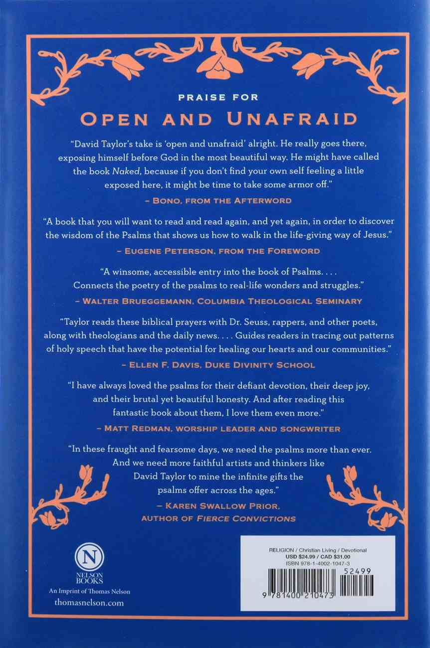 Open and Unafraid: The Psalms as a Guide to Life Hardback