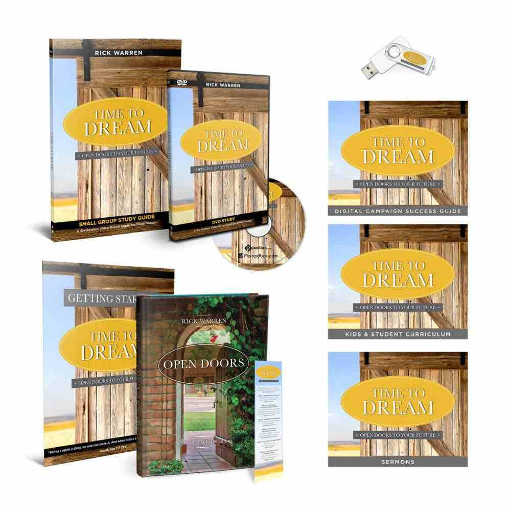 Time to Dream: Open Doors to Your Future Campaign (Campaign Starter Kit) Pack