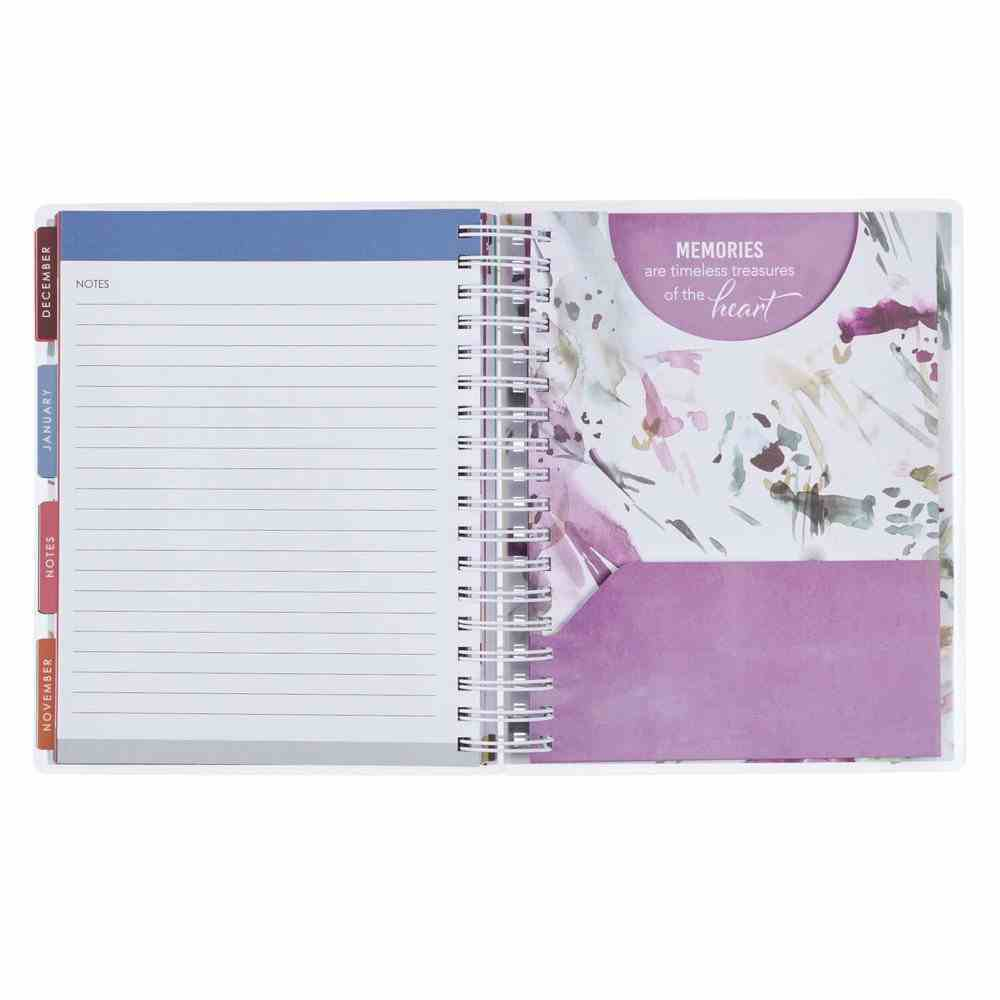 2021 18-Month Diary/Planner: Live Simply (Elastic Closure, Interior Pocket) Spiral