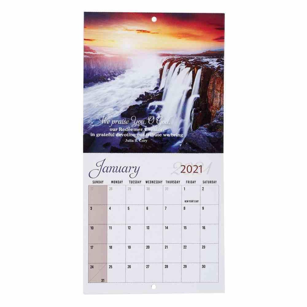 2021 12-Month Small Calendar: How Great Thou Art Calendar