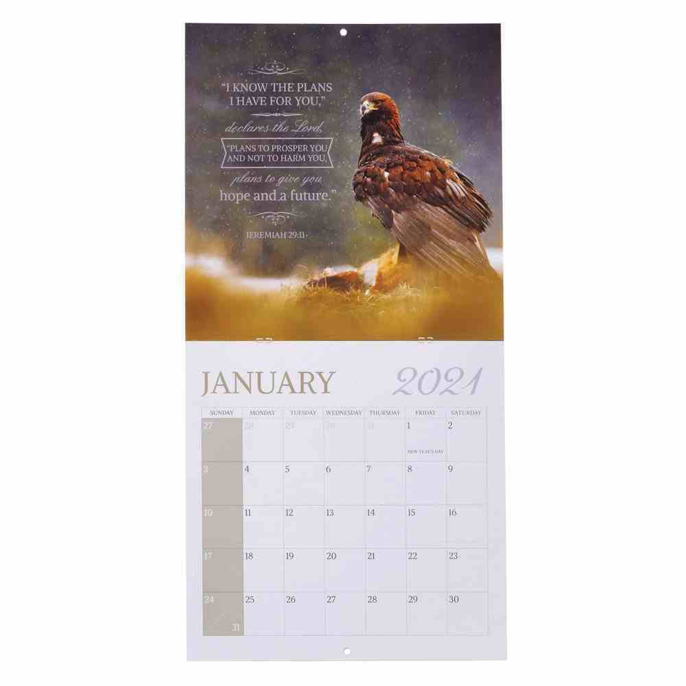 2021 12-Month Large Calendar: On the Wings of Eagles Calendar