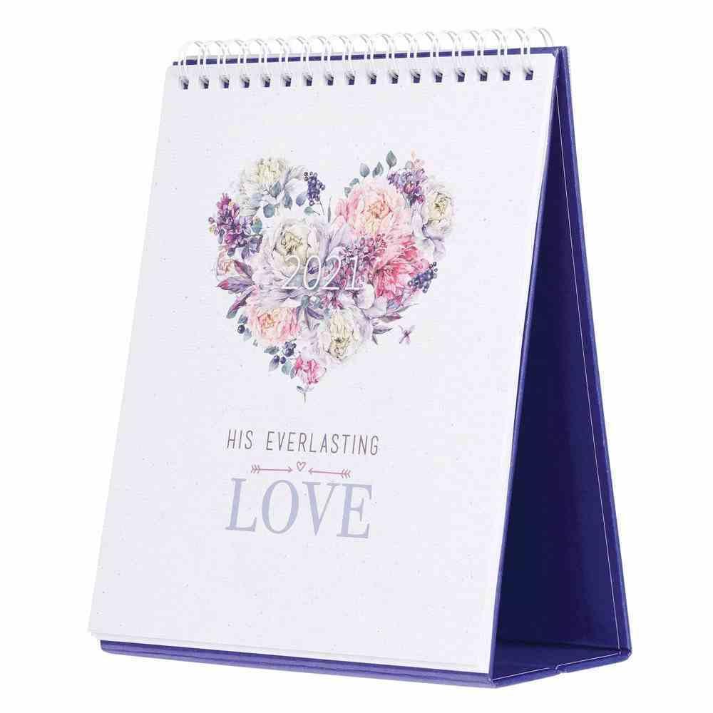 2021 Desktop Calendar: His Everlasting Love Calendar