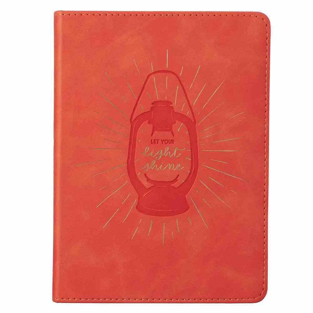 Journal: Let Your Light Shine, Coral, Handy-Sized Imitation Leather