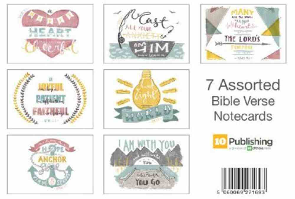 Assorted Bible Verse Notecards (Pack Of Seven) Chart/card