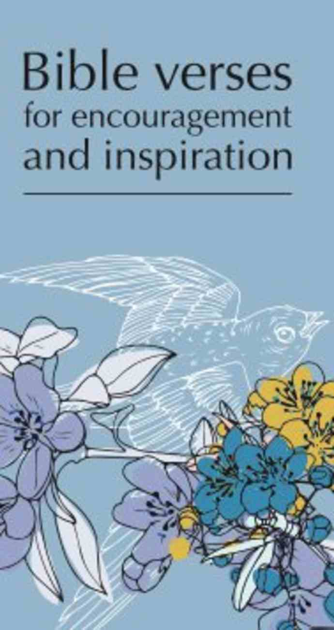 Bible Verses For Encouragement and Inspiration Booklet