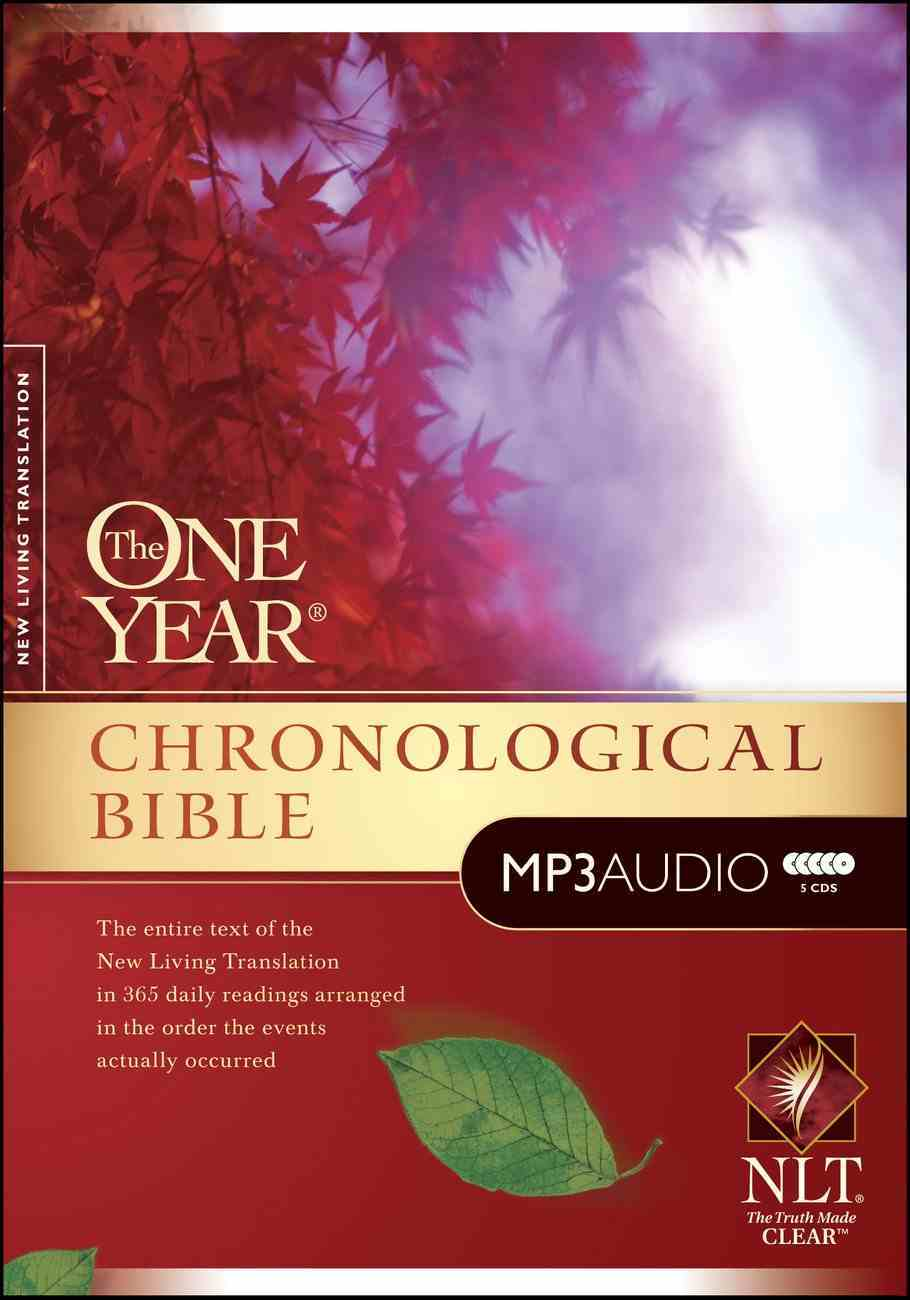 NLT MP3 Audio One Year Chronological Bible (5 Mp3s) CD