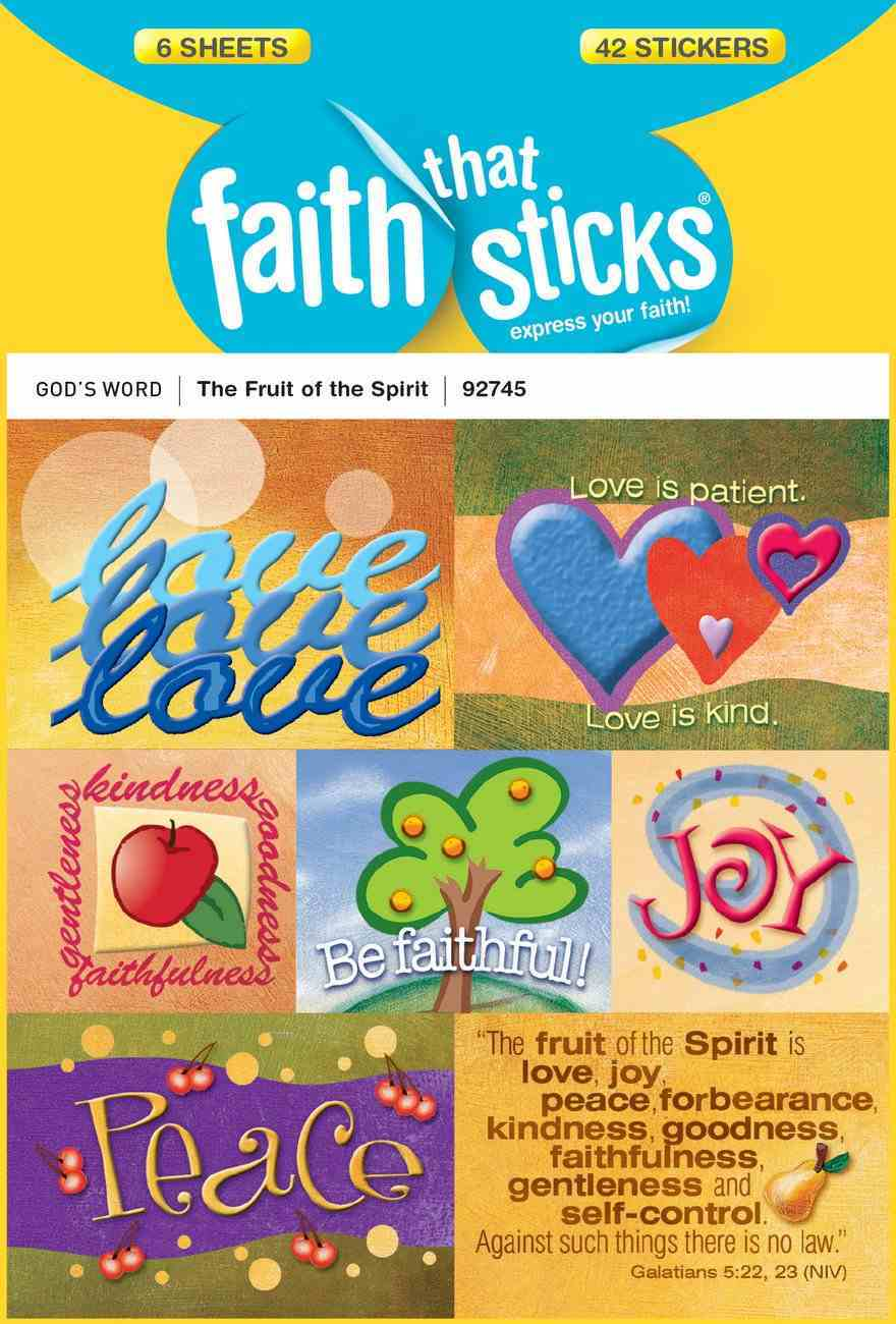The Fruit of the Spirit (6 Sheets, 42 Stickers) (Stickers Faith That Sticks Series) Stickers