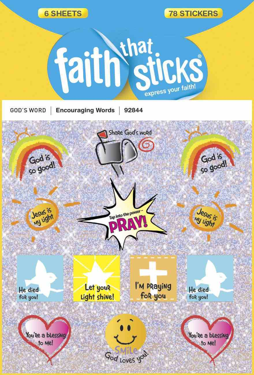 Encouraging Words (6 Sheets, 78 Stickers) (Stickers Faith That Sticks Series) Stickers