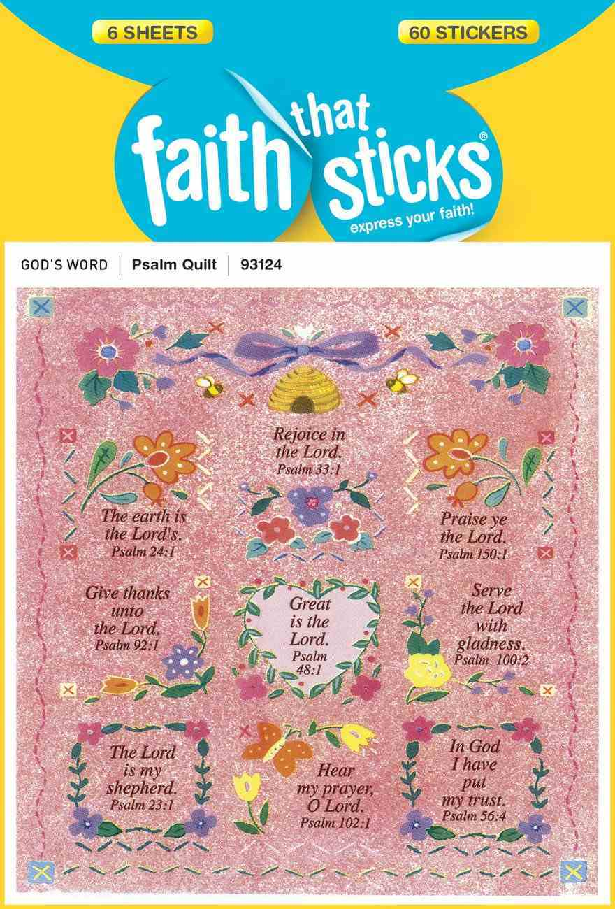 Psalm Quilt Embossed (6 Sheets, 60 Stickers) (Stickers Faith That Sticks Series) Stickers