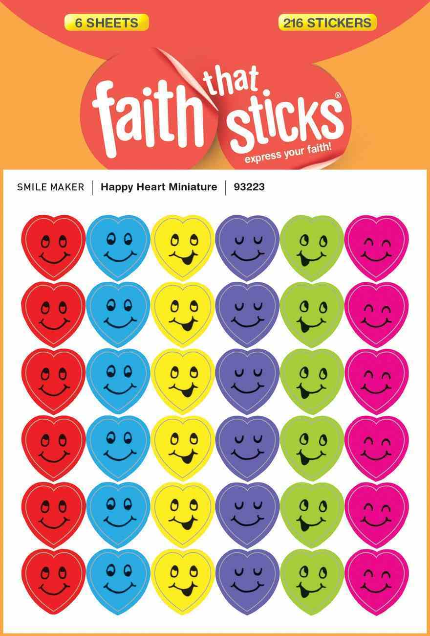Happy Heart Miniature (6 Sheets, 216 Stickers) (Stickers Faith That Sticks Series) Stickers