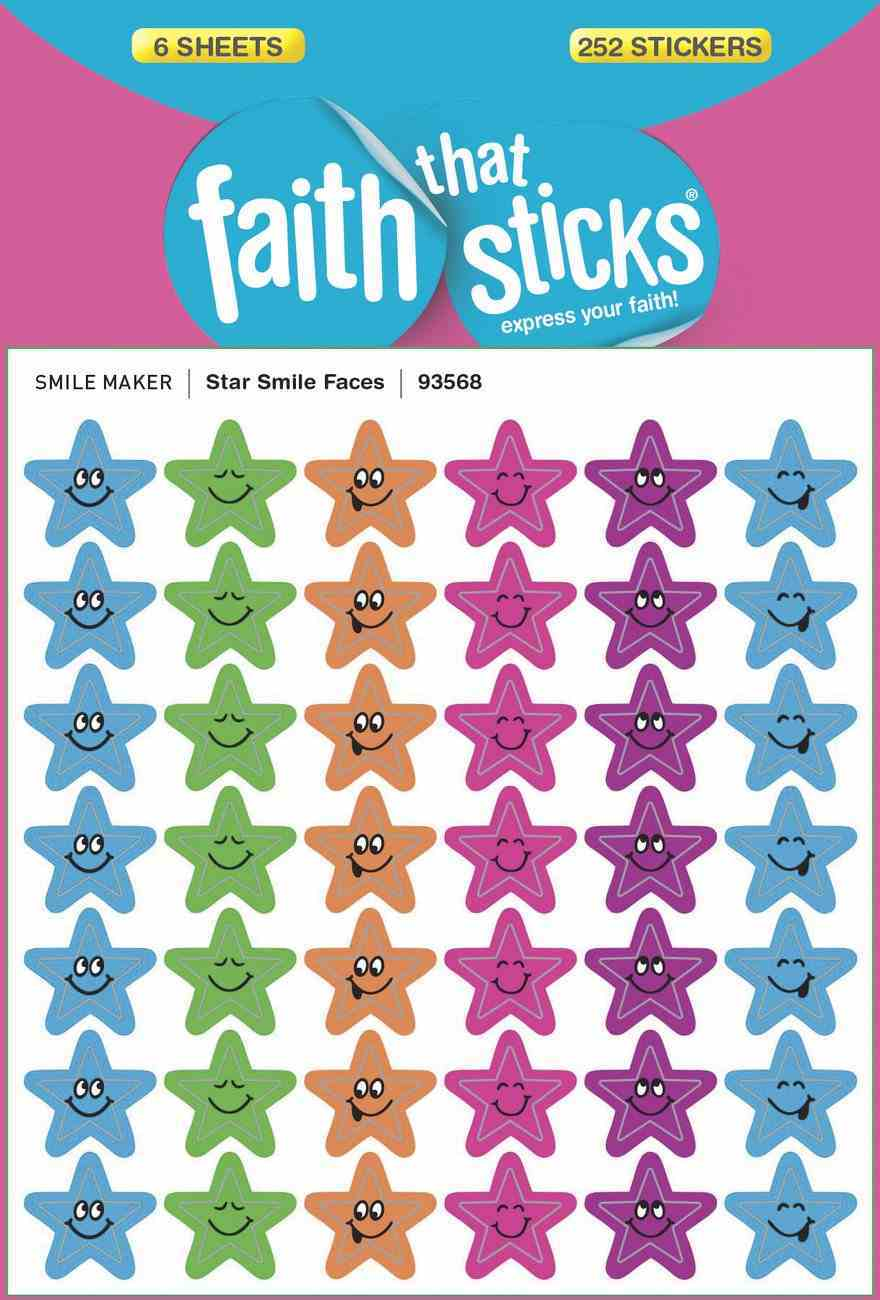 Star Smile Faces (6 Sheets, 252 Stickers) (Stickers Faith That Sticks Series) Stickers