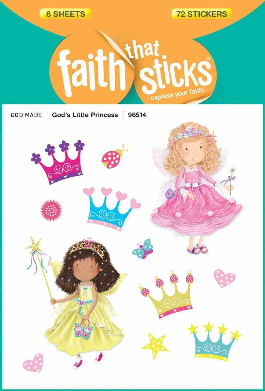 God's Little Princess (6 Sheets, 72 Stickers) (Stickers Faith That Sticks Series) Stickers