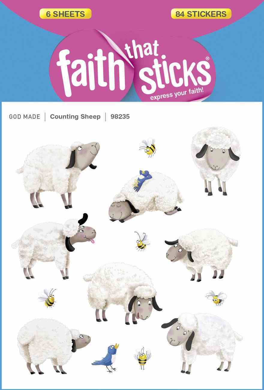 Counting Sheep (6 Sheets, 84 Stickers) (Stickers Faith That Sticks Series) Stickers
