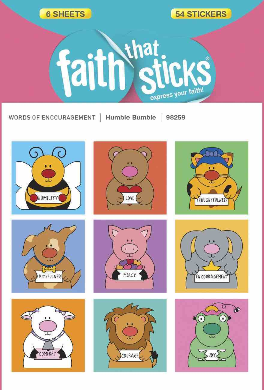 Humble Bumble (6 Sheets, 54 Stickers) (Stickers Faith That Sticks Series) Stickers
