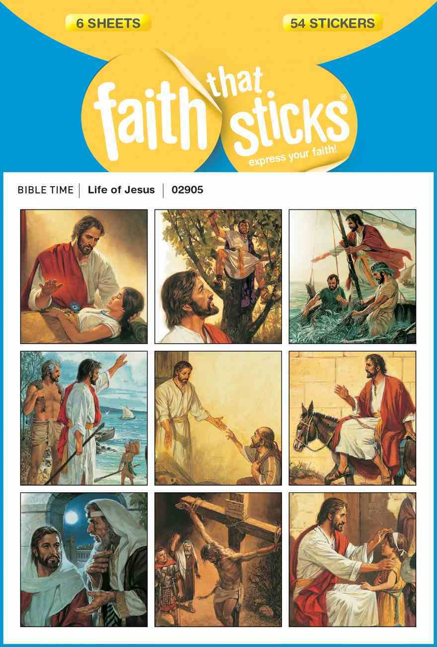 Life of Jesus (6 Sheets, 54 Stickers) (Stickers Faith That Sticks Series) Stickers