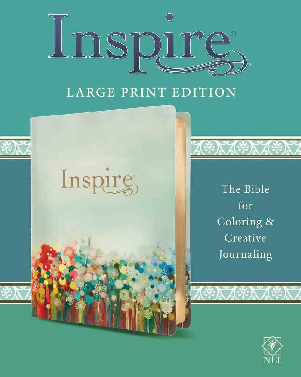 NLT Inspire Bible Large Print Multicolor (Black Letter Edition) Imitation Leather