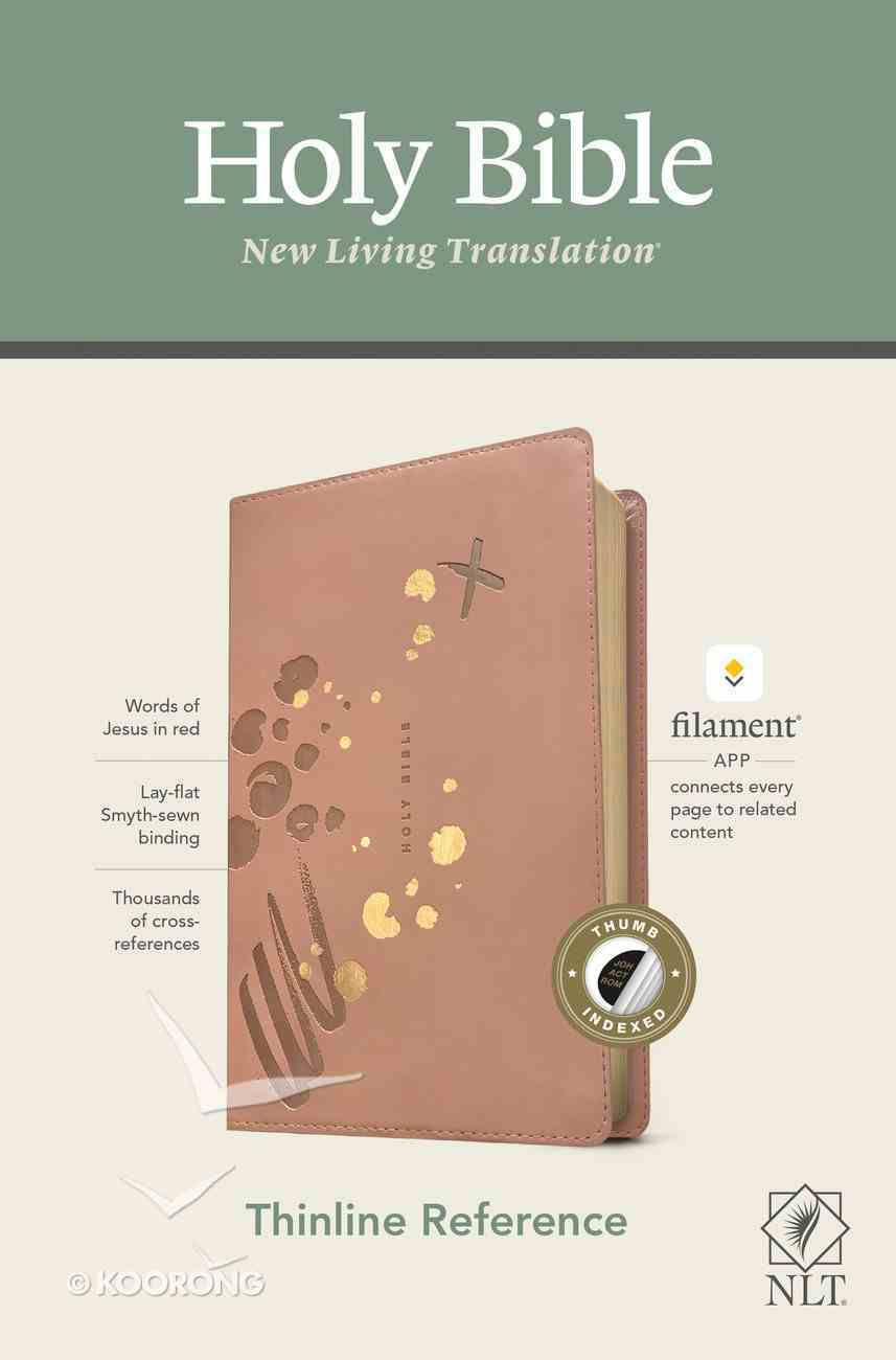 NLT Thinline Reference Bible Pink Indexed Red Letter (Filament Enabled Edition) Imitation Leather
