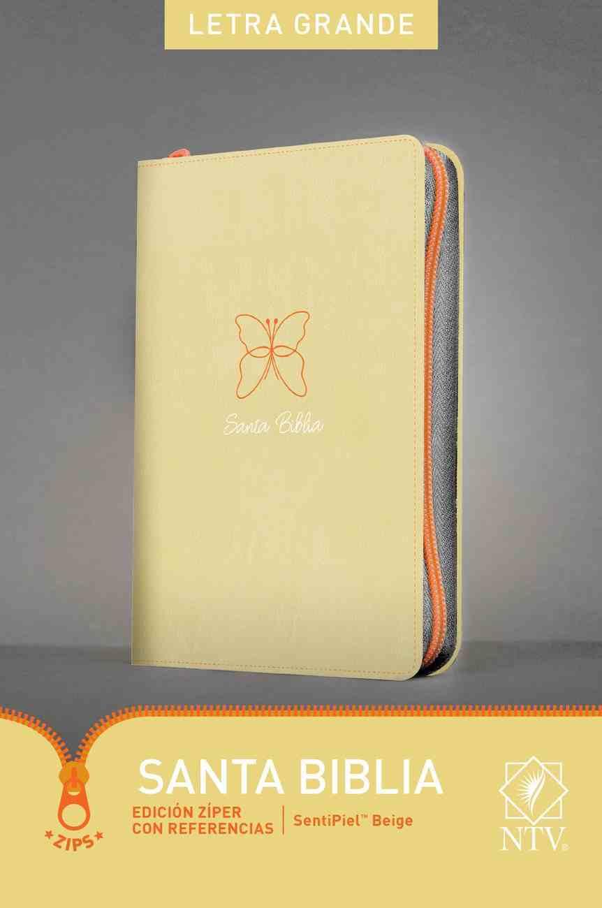 Ntv Santa Biblia Edicion Ziper Con Referencias Letra Grande Beige (Red Letter Edition) Imitation Leather