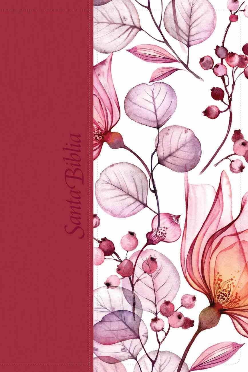 Ntv Santa Biblia Edicion Personal Letra Grande Rose Con Indice (Red Letter Edition) (Large Print Bible Indexed) Imitation Leather