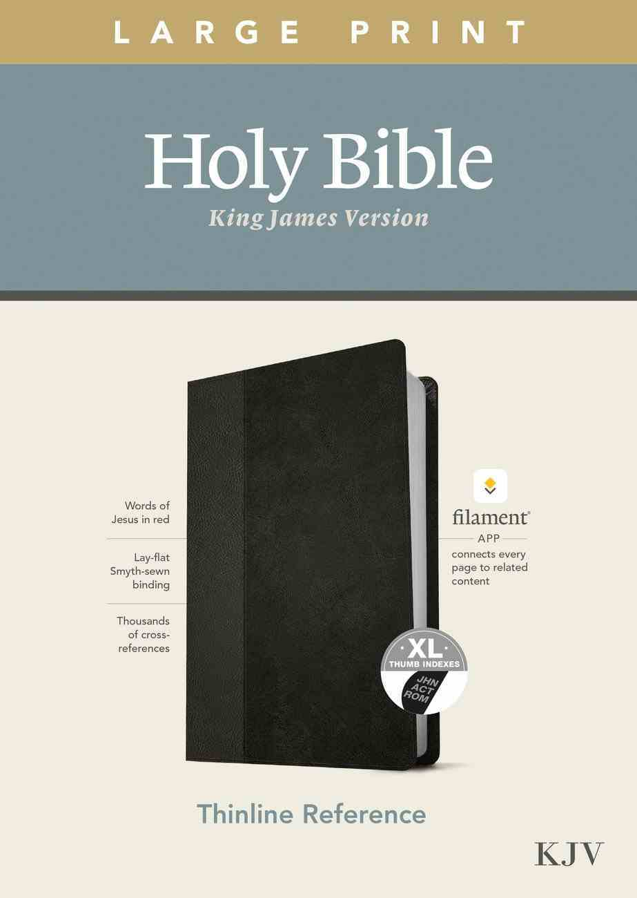 KJV Large Print Thinline Reference Bible Filament Enabled Edition Black/Onyx Indexed (Red Letter Edition) Imitation Leather