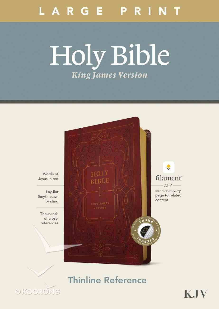 KJV Large Print Thinline Reference Bible Filament Enabled Edition Burgundy Indexed (Red Letter Edition) Imitation Leather
