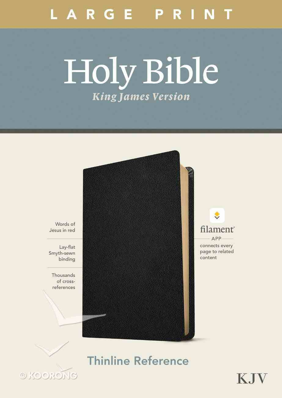 KJV Large Print Thinline Reference Bible Filament Enabled Edition Black (Red Letter Edition) (Red Letter Edition) Genuine Leather