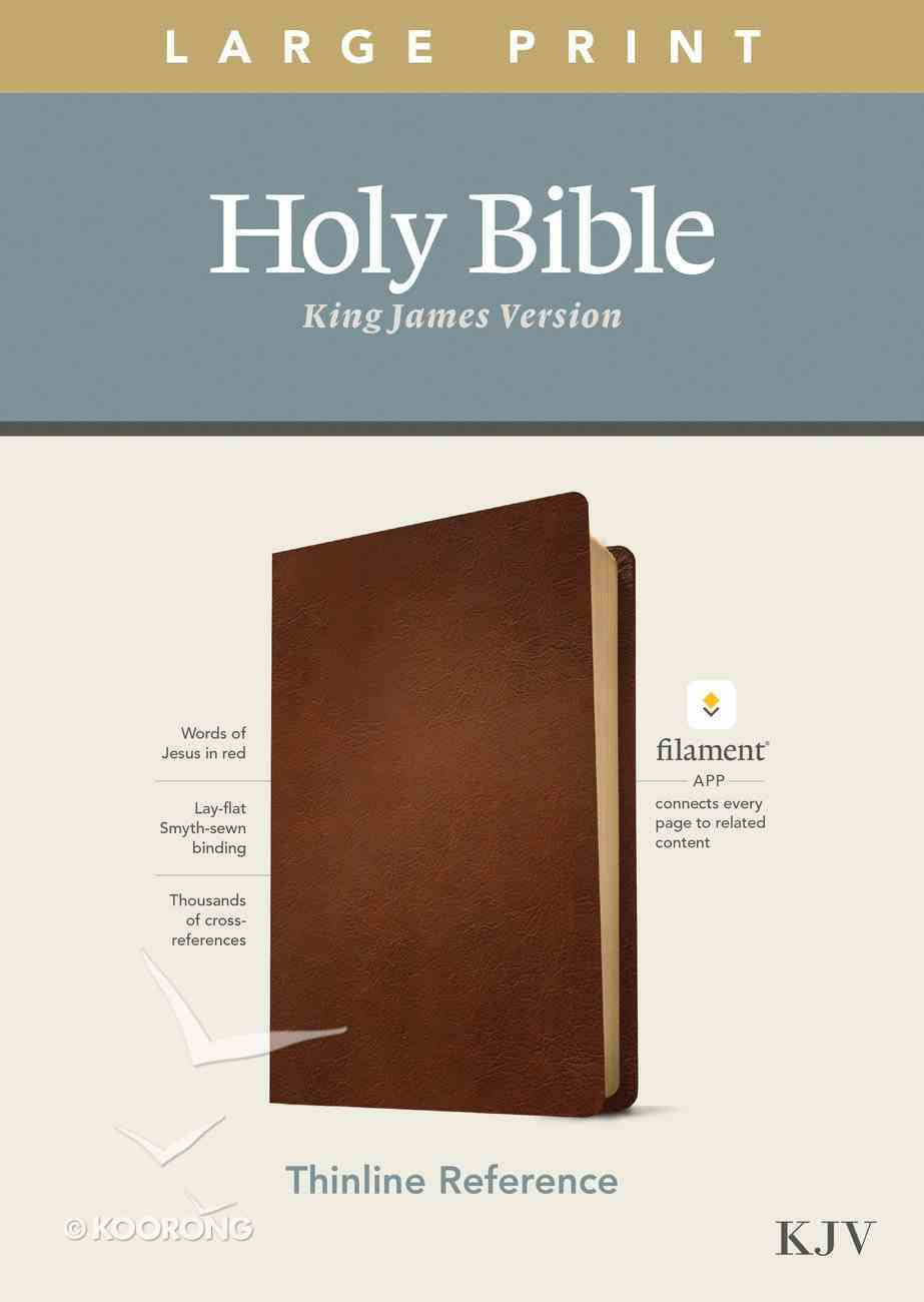 KJV Large Print Thinline Reference Bible Filament Enabled Edition Brown (Red Letter Edition) Genuine Leather
