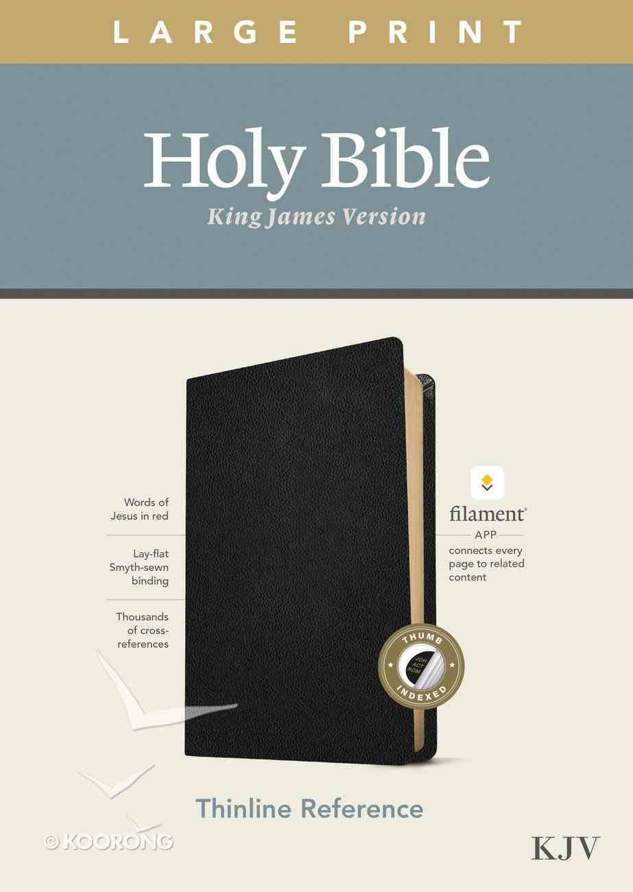 KJV Large Print Thinline Reference Bible Filament Enabled Edition Black Indexed (Red Letter Edition) Genuine Leather