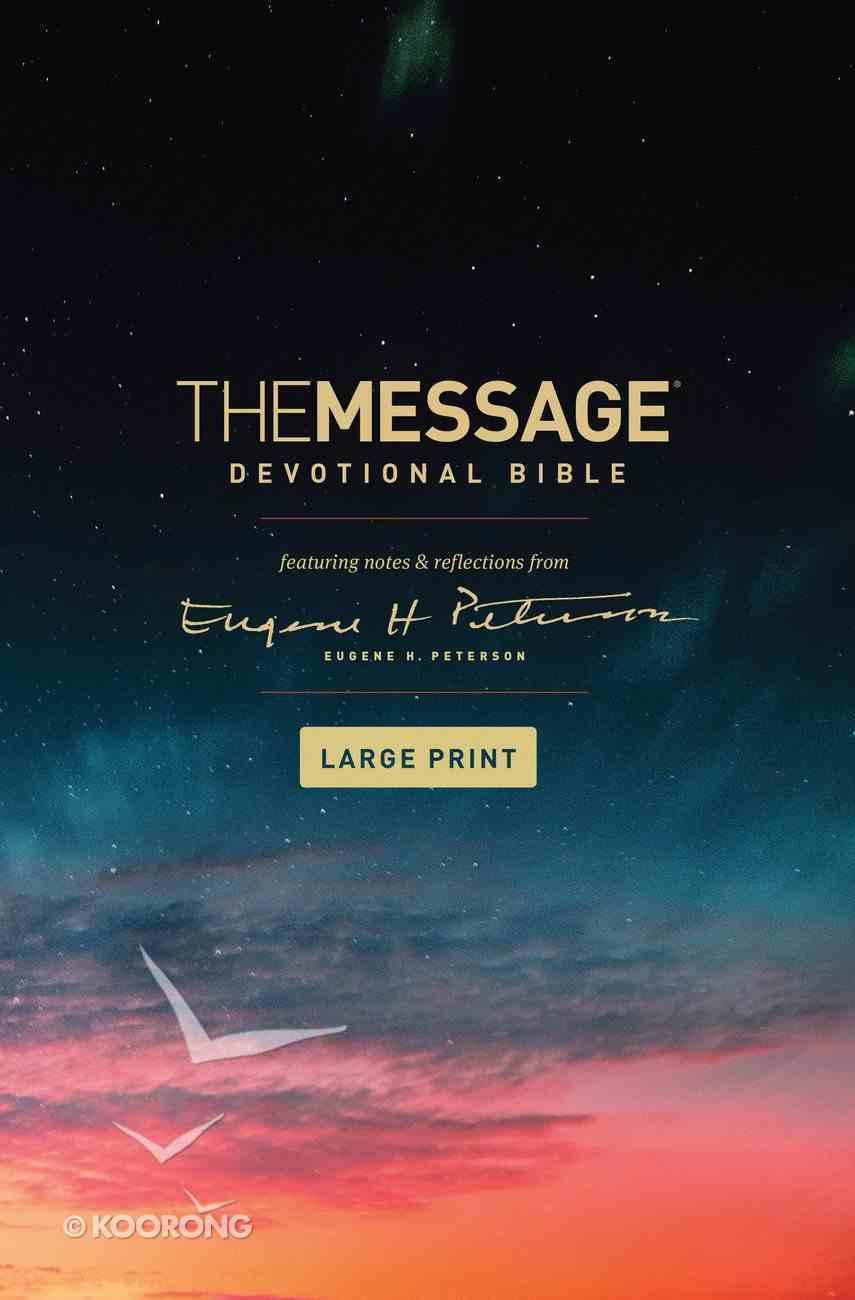 Message Devotional Bible Large Print (Black Letter Edition) Hardback