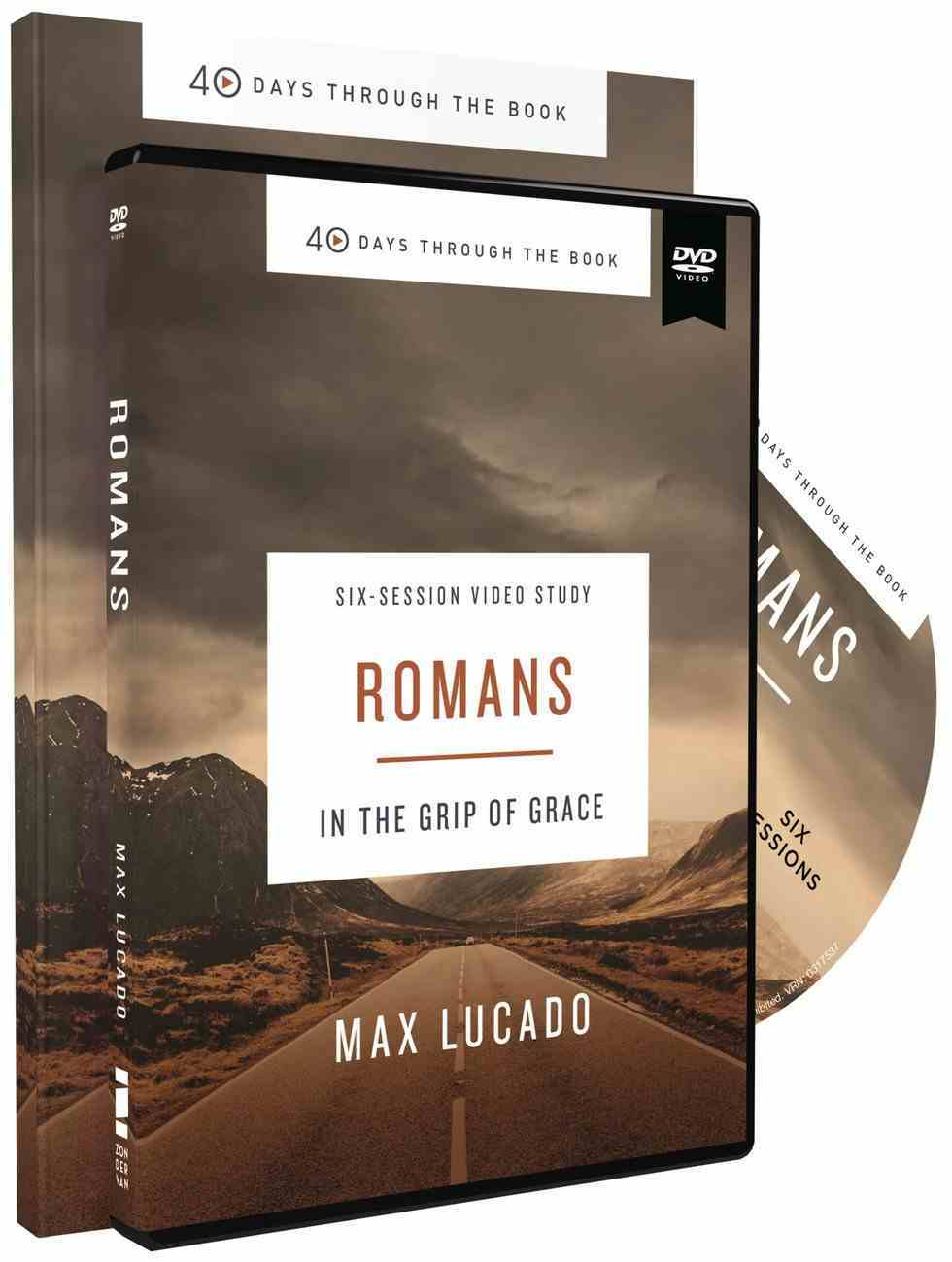 Romans : In the Grip of Grace (Study Guide and DVD) (40 Days Through The Book Series) Pack