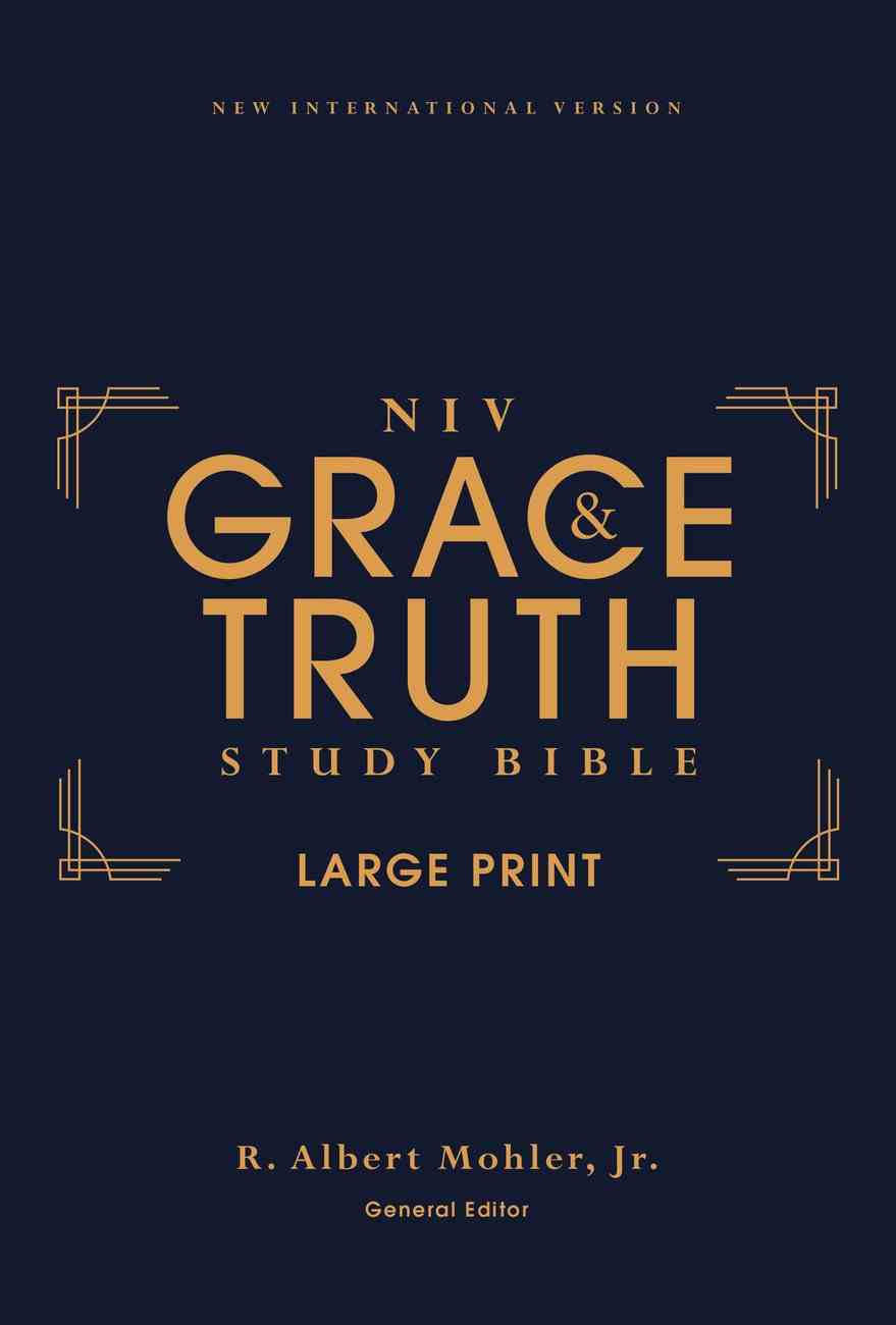 NIV Grace and Truth Study Bible Large Print (Red Letter Edition) Hardback
