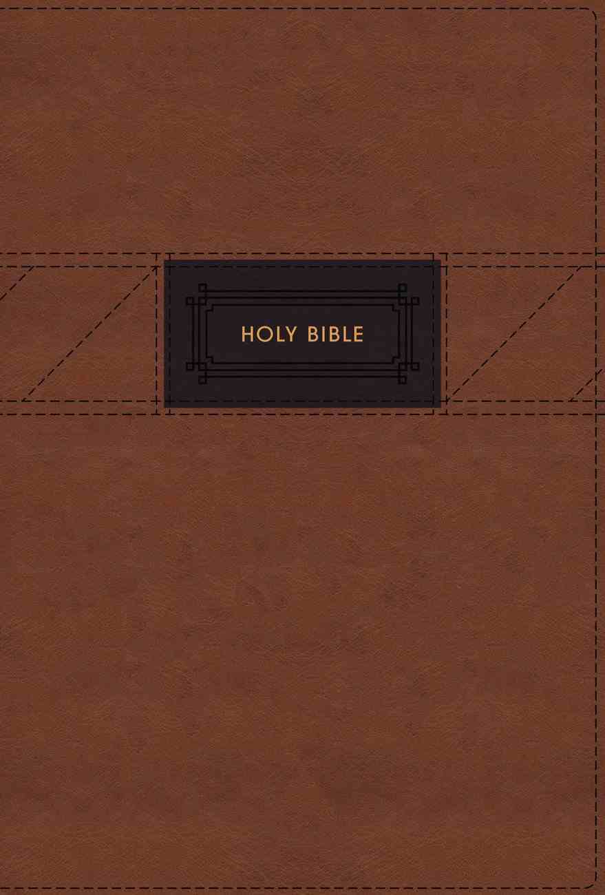 NIV Grace and Truth Study Bible Large Print Brown Thumb Indexed (Red Letter Edition) Premium Imitation Leather