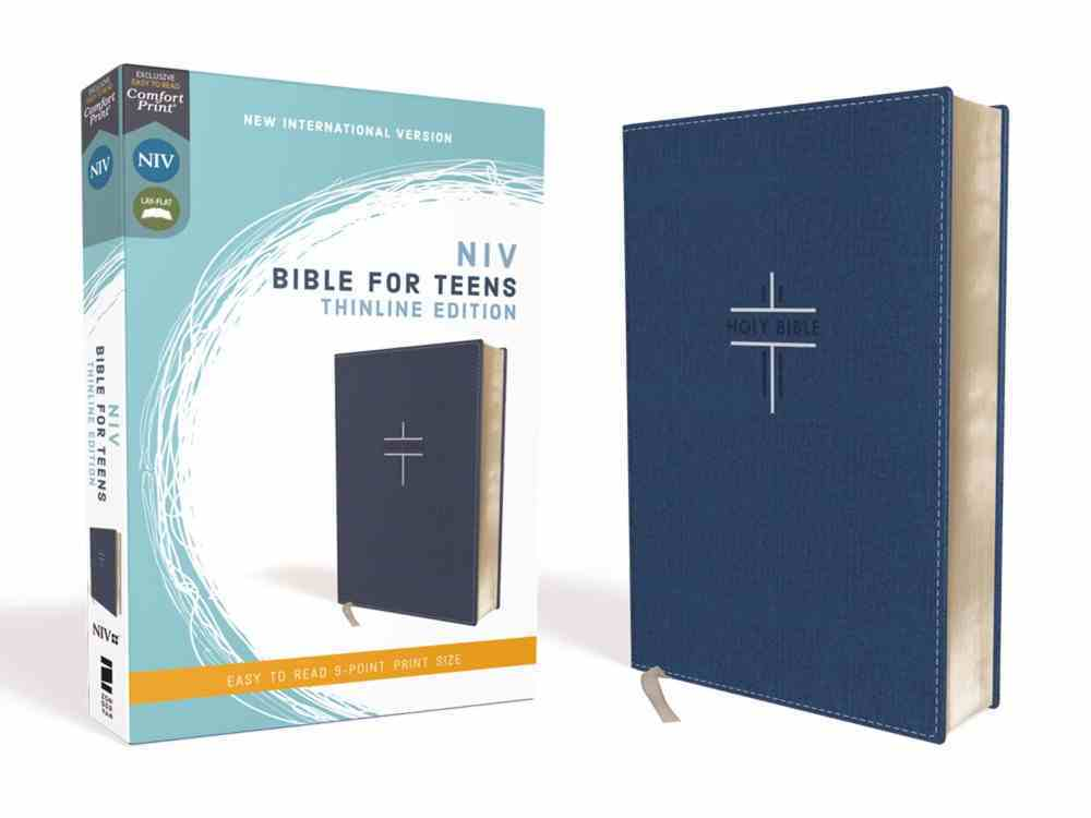NIV Bible For Teens Thinline Edition Blue (Red Letter Edition) Premium Imitation Leather