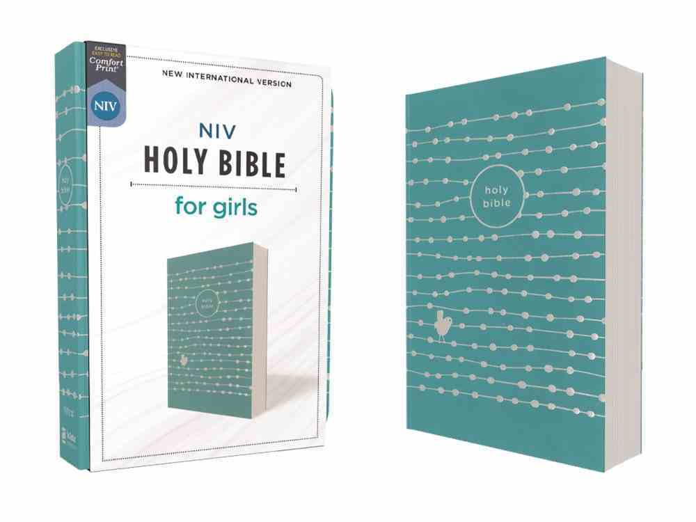 NIV Holy Bible For Girls Teal Premium Imitation Leather
